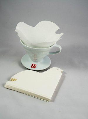 HARIO 20 Papierfilter in in Vogelform